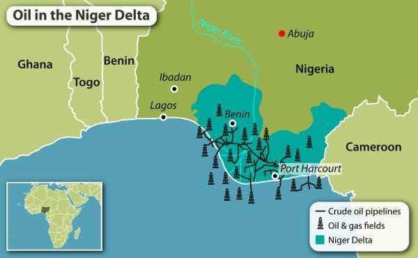 Oil Fields In Nigeria Map Courtesy Of Geopolitical Intelligence Services Source Macpixxel